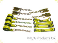 Patented Roll Back Tie-Down System with Chain Ends